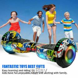 Hoverboard 6.5 Electric Scooters Bluetooth Self Balance Board LED Wheels Lights