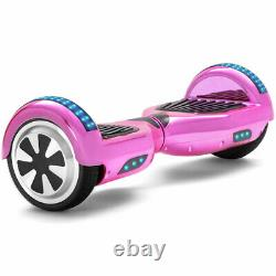 Hoverboard 6.5 Electric Scooters Pink Bluetooth LED Smart Self-Balancing Board
