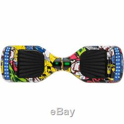Hoverboard 6.5 Hip-hop Electric Scooters Bluetooth LED Balance Board-Graffiti