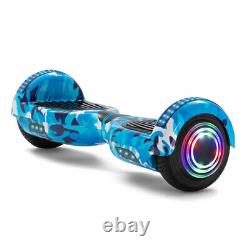 Hoverboard 6.5 Inch Bluetooth Self Balancing Electric Scooters LED Segway 500W