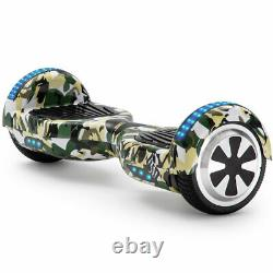 Hoverboard 6.5 Inch Camo Green Electric Scooters Bluetooth LED Balance Board+Bag