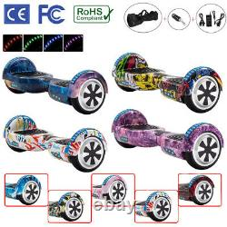 Hoverboard 6.5 Inch Electric Scooters Bluetooth LED 2 Wheel Lights Balance Board