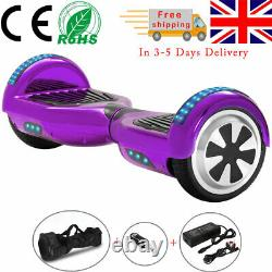 Hoverboard 6.5 Inch Purple Electric Scooters Self-balancing Scooter E-skateboard