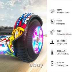 Hoverboard 6.5 Inch Self Electric Scooters Flash 2Wheels Balance Board Bluetooth