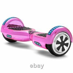 Hoverboard 6.5 Pink Bluetooth Electric Scooters LED Smart Balance Board For Kids