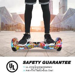 Hoverboard 6.5 Self Balancing Board LED Light Electric Scooters + Hoverkart