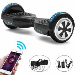 Hoverboard 6.5 Smart E-scooters Bluetooth Electric Scooters Balance Board Black