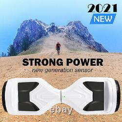 Hoverboard 6.5 White Electric Scooter Bluetooth Self-Balancing Skateboard Board
