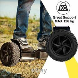 Hoverboard 8.5 Self Balancing Board Off Road Bluetooth LED Electric Scooter SUV