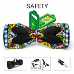 Hoverboard 8 Inch Bluetooth Electric Scooters LED Self-Balancing Scooter+Key+Bag