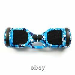 Hoverboard Balance Board Segway 6.5 LED Bluetooth 500W Electric Blue Camo