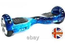 Hoverboard Balance Board Segway 6.5 LED Bluetooth 700W Electric Blue Galaxy
