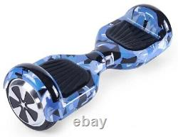 Hoverboard Balance Board Segway 6.5 LED Bluetooth Electric Blue Camo Samsung