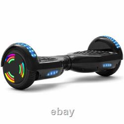 Hoverboard Black 6.5 Bluetooth Self-Balancing Scooters LED Electric Scooter-UK