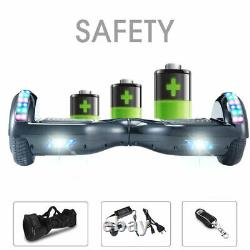 Hoverboard Black 6.5 Electric Scooters Bluetooth LED 500W Smart Balance Board