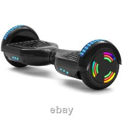 Hoverboard Black 6.5 Inch Electric Scooters Bluetooth LED Self Balance Board-UK