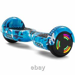 Hoverboard Blue Camo 6.5 Inch Electric Scooters Bluetooth 2 Wheels Balance Board