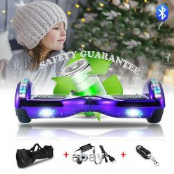 Hoverboard Bluetooth 500W Electric Scooters LED Wheels Lights Self Balance Board