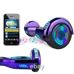 Hoverboard Bluetooth 6.5 Purple Self Balancing Electric Scooters LED Skateboard