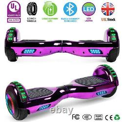 Hoverboard Bluetooth Chrome Electric Self Balancing Scooter 6.5 LED Wheels UK
