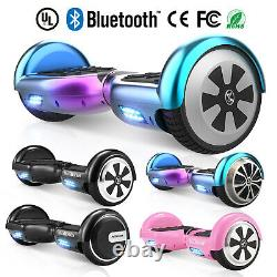 Hoverboard Bluetooth Electric Scooter LED Lights Self-Balancing Scooters