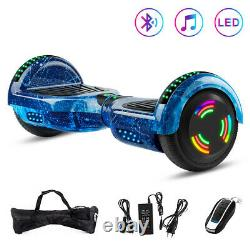 Hoverboard Bluetooth LED Two Wheel Electric Scooter Self Balance 6.5 inch Great