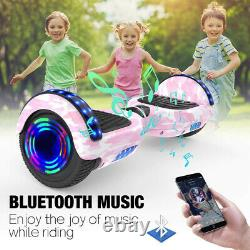 Hoverboard Bluetooth Pink Camo 6.5 Self Balancing Electric Scooters LED+Key+Bag