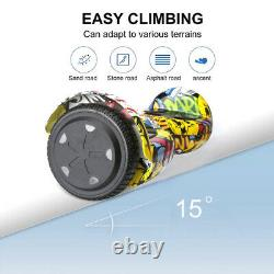 Hoverboard Graffiti 6.5 Inch Bluetooth Electric Scooters LED Kids Balance Board