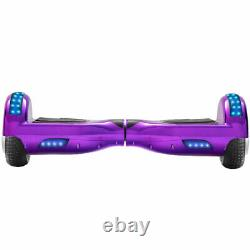 Hoverboard Purple For Kids Gift Electric Scooters Bluetooth 2Wheel Balance Board