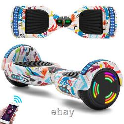 Hoverbord 6.5 Inch Bluetooth Speaker Self Balance Scooter LED Electric Scooters
