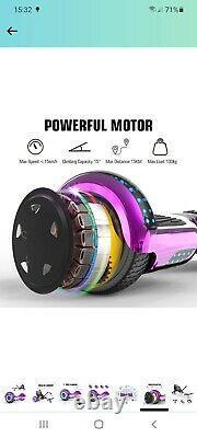 Kids 6.5 Hover board Electric Scooter Self LED Balance Board Go Kart HoverKart