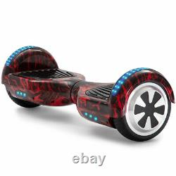 Kids Hoverboard 6.5 Flame Red Electric Scooters Bluetooth 2 Wheel Balance Board