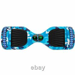 Kids Hoverboard Blue Camo 6.5 Electric Scooters Bluetooth 2 Wheel Balance Board