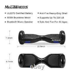 Megawheels 6.5 Bluetooth Hoverboard Electric Self Balancing Scooter & Hoverkart