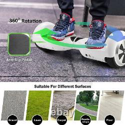 Megawheels 6.5 Hoverboad Self-balancing Electric Scooter with Hoverkart Go Kart