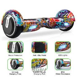 Megawheels 6.5 Smart Hover Board Electric Self Balancing Scooter Two-Wheels LED