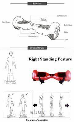 NEW 8.5 Self Balancing Electric Scooter +LED Flash Wheels Bluetooth Hover board