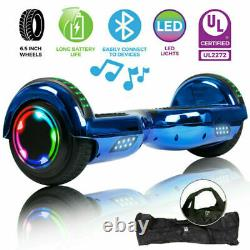 New 6.5 Electric Self Balancing Scooter LED Flash Wheels Hoverboard Xmas Gift