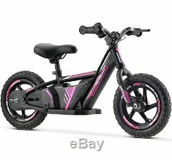 Renegade BB12 24V Lithium Electric Balance Bike Motorbike 12 Wheels Pink