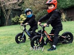 Revvi 12 Lithium-ion 24v Kids Electric Balance Bike MX Motorbike Black