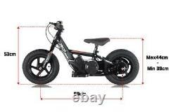 Revvi 12 Lithium-ion 24v Kids Electric Balance Bike MX Motorbike Pink