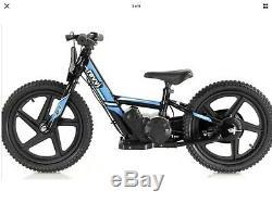 Revvi Electric Childrens Balance Bike 12 inch wheels Blue August Pre Order