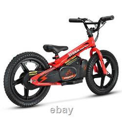 STORM 16 KIDS 170w 24v ELECTRIC BALANCE BIKE RED STUNNING NEW 2021 MODEL