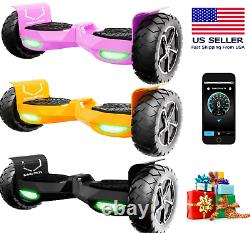 SWAGTRON 10 T6 Adult LED Bluetooth Self Balancing Electric Scooter 12MPH No Bag