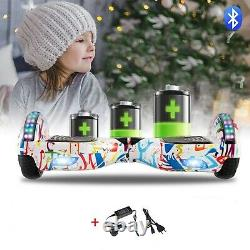 Self Balancing Electric Scooter HOVERBOARD LED 6.5 Swegway White Graffiti