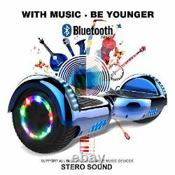 Self Balancing Scooter 6.5 Electric Scooter Gift for kids- Bluetooth Speaker LE