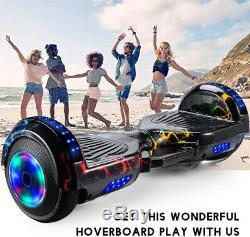 Self Balancing Scooter Electric Bluetooth Balance Board Flashy Wheels Uk