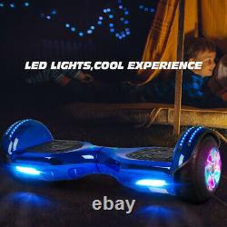 Self Balancing Scooter Electric Bluetooth Balance Board With Uk Plug Blue