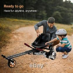 Self Electric Balancing Scooter Hoverboard HoverCart Kid Suspension GoKart Black