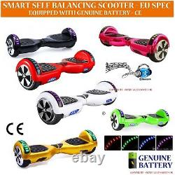 Self Electric Hover Scooter Balance Board LED Skate Bluetooth Inc Carry Case